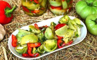 Готовим салат из зеленых помидор для всей семьи