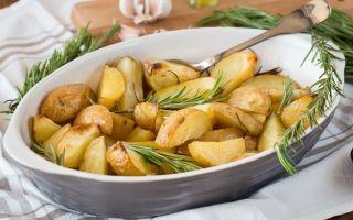 Запеченный и жаренный картофель с розмарином