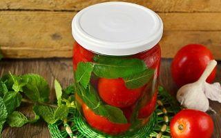 Помидоры с мятой на зиму: рецепты вкусных заготовок