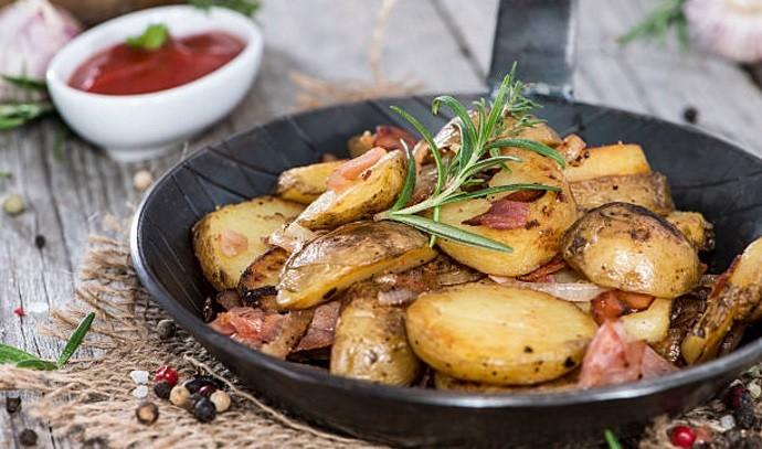 Картошка на сковородке