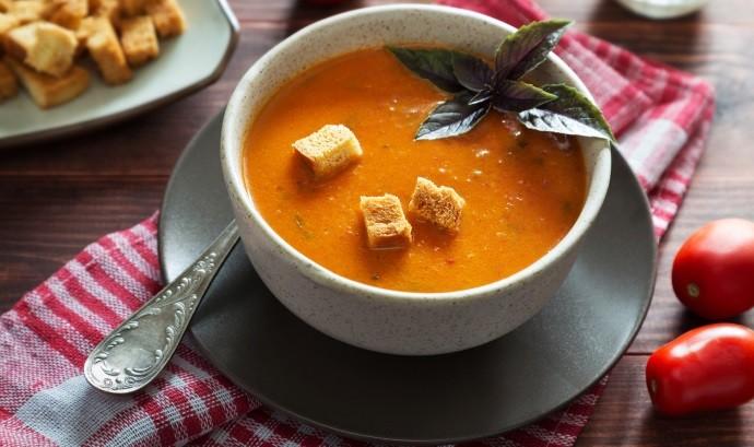 Сухарики в супе