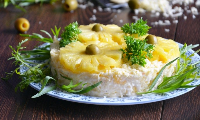Маслины в салате