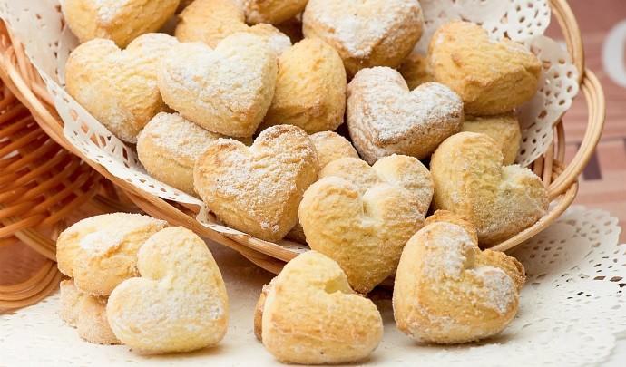 Печенье сердечками