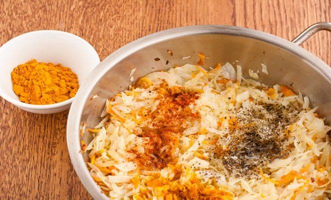 5 простых рецептов приготовления капусты с куркумой