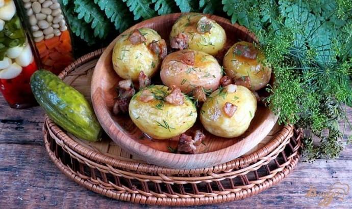 Молодая картошка с зажаркой