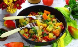 Легкое овощное рагу