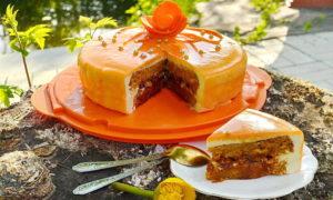 Красивый морковный торт