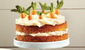 Морковный торт в вазе