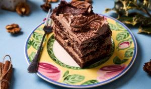 Торт с орехом и шоколадом