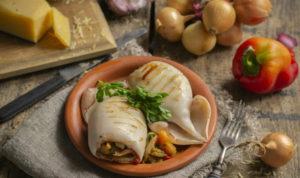 Моллюск с овощами
