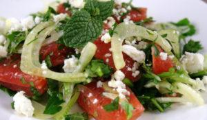 Салат с мятой
