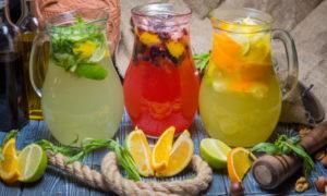 Прохладительные напитки с цитрусами