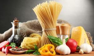 Ингредиенты к макаронам