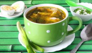 Суп из морской капусты с яйцом