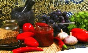 Сацебели с виноградом