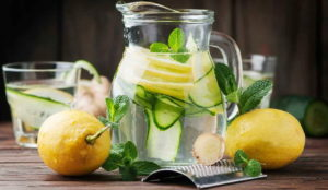 Сасси с огурцом и лимоном