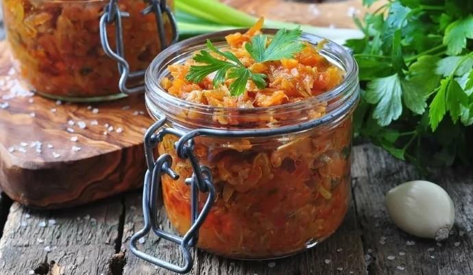 Овощной салат в зиму